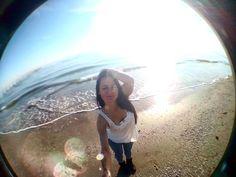 #rimini #italy #emiliaromagna #adriatic #sea #fisheye #италия #римини #instagram #like #sun #love #beautiful #April #happy #model by kristinakris86