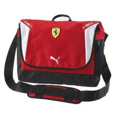 Scuderia Ferrari Replica Shoulder Bag #ferrari #ferraristore #puma #shoulderbag #bag #borsa #red #rosso #rossoferrari #ferrarired #prancinghorse #cavallinorampante #accessories #accessori #maranello #scuderia