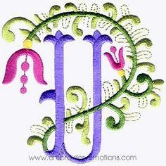 Alphabet embroidery pattern