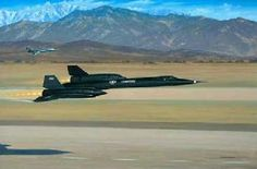 """First Flight of the Blackbird (SR-71) by Stan Stokes"