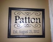 Family Name Frame Personalized Wedding.