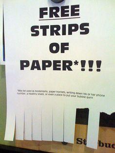 Free Strips of Paper!!!!!OMG I neeeeed those!!!!!
