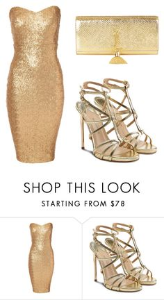 """""""#54"""" by todor-izabella ❤ liked on Polyvore featuring Jane Norman, Paul Andrew and Yves Saint Laurent"""