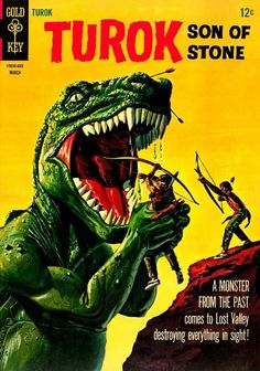Turok: Son Of Stone - defender of the Lost Valley from #dinosaurs. Gold Key #comics, March 1966
