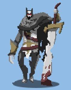 [OC] Skeleton Warrior : PixelArt