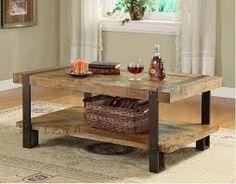 Résultats de recherche d'images pour « table en bois avec patte en fer forgé »