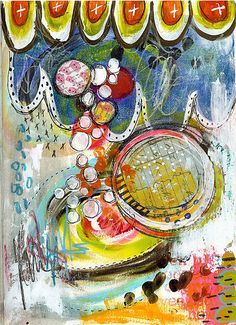 Easy On Art Journal Page - Roben-Marie Smith on flickr
