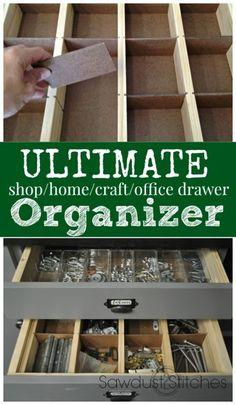 Ultimate Drawer Organizer - Sawdust 2 Stitches