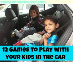 Games you can play with your kids in the car or while waiting in line - no supplies needed whatsoever!
