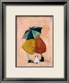 A sneaky one by Sam Toft #art #decorative #umbrella #dog