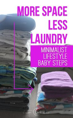Transitioning a family toward a more minimalist lifestyle is all about baby steps. We recently made a change to more efficient towels to make more space and less laundry! Organizing is key! Becoming Minimalist, Minimalist Baby, Minimalist Wardrobe, Minimalist Lifestyle, Konmari, Minimal Living, Simple Living, Ideas Para Organizar, Baby Steps