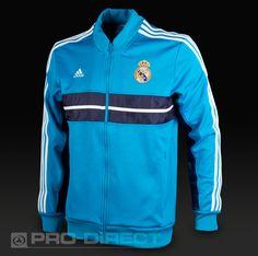 adidas Real Madrid Anthem Jacket - Turquoise Size L #pdsmostwanted