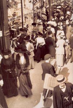 Shopping in Edwardian London  Sambourne photo