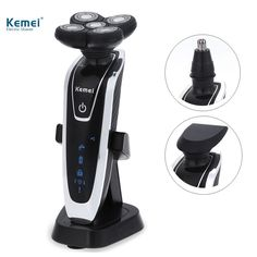 Kemei5886 New 3 in1 Washable Rechargeable Electric Shaver Triple Blade Electric Shaving Razors Men Face Care 5D Floating #Affiliate