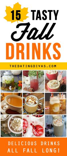 So many fun fall drinks! I LOVE this post from The Dating Divas!