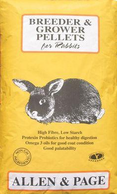 Rabbit Breeder Grower Pellets, Pet & Adult Natural Healthy Feeding 20 kg Pack