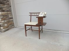 vintage gossip tables | Vintage Gossip Bench Telephone Bench Table Left by RetroVintageous