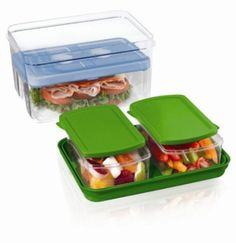 Amazon.com: Fit & Fresh Lunch on the Go Container Set with Removable Ice Pack (Colors May Vary): Health & Personal Care