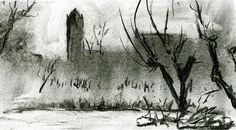 Sketching near The Potmarge - Janet Plantinga Art