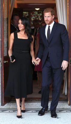 66a2e5d7a7ed09 Meghan Markle Wears a Little Black Dress by Emilia Wickstead in Dublin