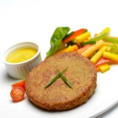 Hamburguesa de quinoa #receta #vegana