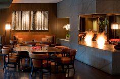 Tizian Lounge with modern fireplace