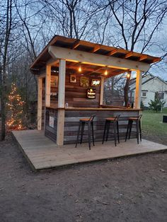 Outdoor Garden Bar, Diy Outdoor Bar, Backyard Bar, Backyard Kitchen, Backyard Patio Designs, Backyard Retreat, Backyard Landscaping, Outdoor Living, Casa Viking