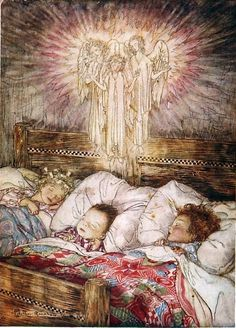 """Beautiful also is light to the timid child, when, after awakening in darkness, his screams of terror have brought some taper, and, as though he knew that his guardian angel had come to watch his slumbers, he lays his cheek upon his little hand, even shuts his eye upon the wished-for object and sweetly sleeps--for it is light. —Harriet Farley, ✨ """"Beauty of Light"""""""