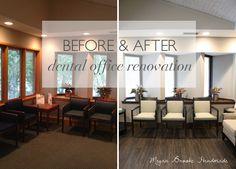 Before & After Dental Office Renovation- Megan Brooke Handmade
