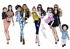 Famous Mothers + their famous kids! Kim & North, Bey & Blue, Victoria & Harper and Mariah + Roc & Roe Hayden Williams Hayden Williams, Best Friend Drawings, Bff Drawings, Fashion Art, New Fashion, Girl Fashion, Fashion Design Drawings, Fashion Sketches, Fashion Illustrations