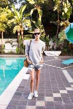 Model Alena Blohm's LA street style on the blog | @andwhatelse