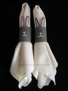 Cindy deRosier: My Creative Life: Bunny Napkin Rings
