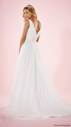 Wedding Inspirasi charlotte balbier 2016 bridal dresses floral strap sweetheart neckline beautiful wedding gown beth back $339.99 Charlotte Balbier