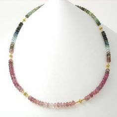 Caleb Meyer Tourmaline and Gold Necklace #2897