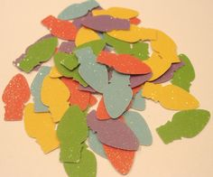 50 CHRISTMAS LIGHTS Glitter Die Cuts Confetti by TheScrappyKat, $1.75