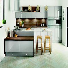 Homebase Hygena Arletta Grey Kitchen.  Kitchen-compare.com - Home - Independent Kitchen Price Comparisons