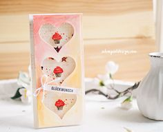 Birthday Wishes, Birthday Cards, Shaker Cards, Small Cards, Cupcakes, Party, Stampin Up, Paper Crafts, Bottle