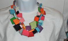 massive bib necklace MARION GODART paris runway haute couture designer squares #MARIONGODART #RUNWAYSTATEMENT