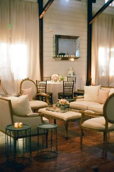 Lounge Areas for Intimate Conversations design by - @Easton Events  photo by - Jen Fariello