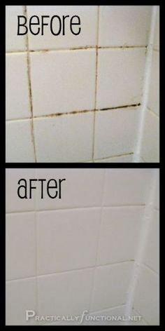 Want a simple trick for cleaning grout in your shower, bath, or kitchen? This is the absolute BEST homemade grout cleaner; just baking soda and bleach! Diy Home Cleaning, Household Cleaning Tips, House Cleaning Tips, Deep Cleaning, Spring Cleaning, Cleaning Hacks, Hacks Diy, Homemade Grout Cleaner, Natural Cleaning Products