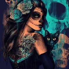 隠涙が出る一リゾート旅客堂々たる - かまどブームオークランド - cctcundergrad.com Cross Stitch Art, Cross Stitch Embroidery, Easy Paintings, Your Paintings, Magic Cat, Classic Artwork, Paint By Number Kits, Canvas Wall Decor, Halloween Horror