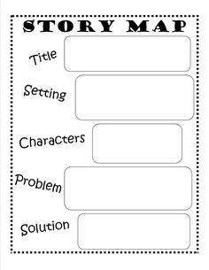 Story Map - FREE Printable #reading #writing #kids