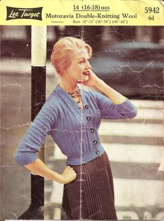 Droooolll. Can someone make this for me plz. 1950's Knitting - Lee Target Cardigan free pattern