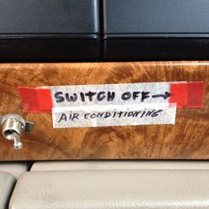 Now that is a customized A/C switch if I've ever saw one!