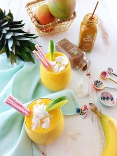Wake up on the bright side! Sweetened with mango, pineapple and banana, then blended with coconut milk and warm spices, this turmeric smoothie makes for a great breakfast or afternoon snack.