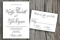 Beautiful and Stylish Katlyn Printable Wedding Invitation - DIY Invitation - Custom colors option