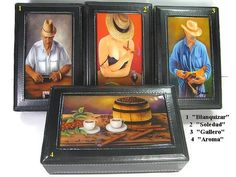 Buy 1 Get 2nd 20% Off!! . Dominoes Set Double Six in Leather Case. Six Top paintings to Choose.