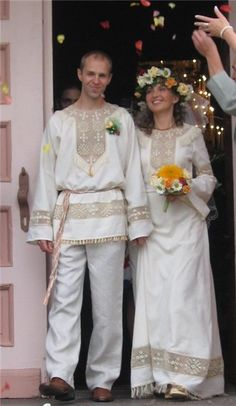 "on the site indicated that this is a Russian wedding dress. but many Ukrainian patriots  include  in the ""Ukrainian"" clothing matreshkas, children, home and even Udmurt babushkas"