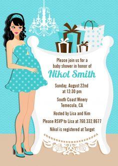 Modern Mommy Crib It's A Boy - Baby Shower Invitations