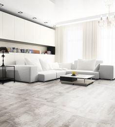 bielona podłoga w stylu skandynawski, designerski sklep
